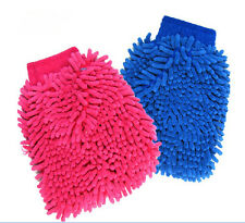 Car Microfiber Cleaning Glove Wash washing Mitten Cloth Clean Color Gloves