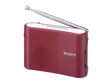 Sony Japan FM AM Handy Portable Radio ICF-51 Red