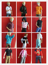 Kids Gifts Handmade 4 Sets Prince Clothes Outfits for Barbie Boyfirend Ken Dolls