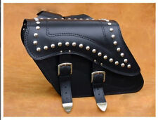 Motorcycle HIGH QUALITY LEATHER SADDLEBAGS PANNIERS Suzuki Honda Yamaha Triumph