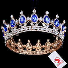 New Arrival King/Queen Crown Plated Alloy Rhinestone Crystal Tiaras Hair Jewelry