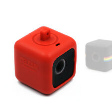 Telesin Red Protective Pendent Case with Necklace Lanyard for Polaroid Cube