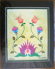"""Art Print Authentic Native American  """"New Life""""  Floral 11x14"""" matted New"""