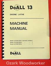 DoALL/ROMI 13 inch Metal Lathe Operating & Parts Manual 0278