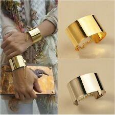 2013 New Fashion Korean Style lady's Golden Metallic Wide Bangle Chain Bracelet
