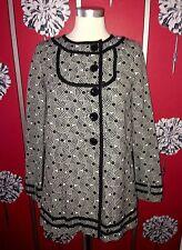 NUOVO TIBI anni'60 Cappotto US 2 UK 8/10 Net-A-PORTER