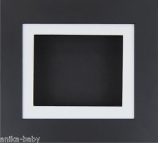 Small Black Deep Box Display frame Medals 3D Objects Art Baby Casts White Mount
