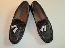$148 New in box Johnston & Murphy leather Aragon II solid Black shoe  9 D