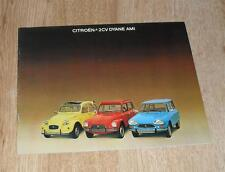 Citroen Small Cars Brochure 1976 - 2CV6 Ami 8 Saloon & Estate Dyane Weekend