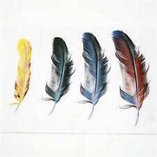 3D Reflective Car Window Waterproof Beauty Colorful Decal Car feather stickers @