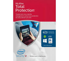 MCAFEE TOTAL PROTECTION 2016 Unlimited PC 1 Year AntiVirus plus ANDROID