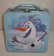 Disney Princess Frozen Olaf Tin Metal Snack Lunch Box, Purse, Carry All