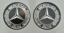 Mercedes Benz 4 un. X (56mm) 3D Vintage Logo. abovedado Pegatinas/Calcomanías.