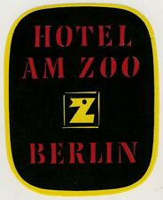 Hotel am Zoo BERLIN * Old Luggage Label Kofferaufkleber