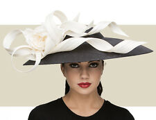 NWT AUTH PHILIP TREACY SWEEPING DOME SPRING SUMMER 2015 KENTUCKY DERBY HAT