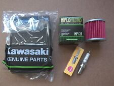 Tune up Kawasaki Bayou Spark Plug + Air Oil Filter KLF220 KLF 220 250 2002 2003