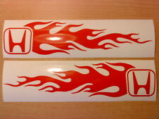 LARGE fun flames vinyl graphics car sticker side graphic tribal flame bonnet jdm