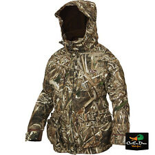 LADY DRAKE WATERFOWL EQWADER 3-N-1 PLUS 2 LST WADER COAT MAX-5 CAMO WOMENS MD