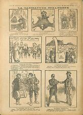 Caricature Boches Peau d'Ours Russie Russia Guillaume/Wilhelm II John  1918 WWI