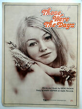 MARY HOPKIN Sheet Music THOSE WERE THE DAYS TRO Publ. 60s 70's FOLK Pop BEATLES