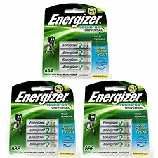 12pcs Energizer Rechargeable AAA NiMH 700 mAh Recharge Universal Battery NEW