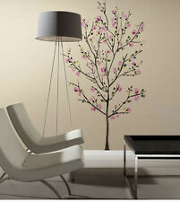 "PINK BLOSSOM TREE wall stickers MURAL 33 decals cherry flowers branch 65"" tall"