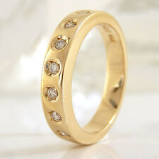 """Ring """"CHRIST"""" in 585/- Gelbgold mit 7 Diamanten ca. 0,14 ct. Wesselton/VSI"""