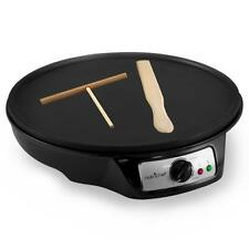 NutriChef PCRM12 Electric Crepe Maker/Griddle, Black