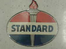 STANDARD GAS WEATHERED METAL SIGN 14 BY 13 RAISED LETTERS