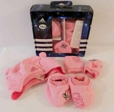 Adidas Disney Gift Set Baby Girl Hat Mitts Booties Winter Set Pink