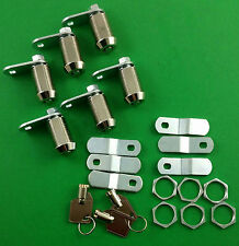 "RV Motorhome Trailer Storage 7/8"" Door Cam Lock Set Of 6 L327"