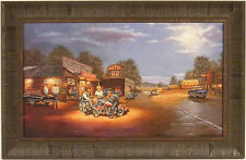 ROUTE 66 by Dave Barnhouse 17x27 FRAMED PRINT Harley Davidson Motorcycles Bike