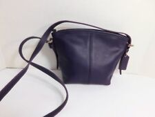 COACH - Leather shoulder bag, purple color