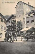 Zell am See Austria Marketplace Antique Postcard J41294