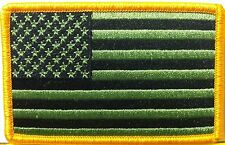 United States Flag BLACK & GREEN COLORS VELCRO Tactical Military Patch 0004