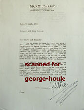 JACKIE COLLINS - LETTER - SIGNED - 1992 - THE STUD - THE BITCH - JOAN COLLINS