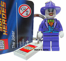 LEGO  BATMAN JOKER DC COMICS KEYRING KEYCHAIN MINIFIGURE  NEW
