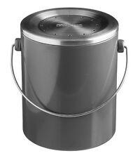 Typhoon HUDSON Grey COMPOST CADDY Kitchen Waste Bin Metal 3L