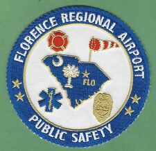 FLORENCE REGIONAL AIRPORT  SOUTH CAROLINA FIRE DEPARTMENT ARFF PATCH