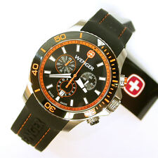 NEW $450 GENTS WENGER 0643.104 ORANGE SEA FORCE OUTSIDE MAGAZINE WATCH OF YEAR