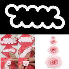 One-Piece Plastic 3D Rose Fondant Icing Cake Sugarcrafts Mould Toppers Supplies@