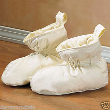 Warm & Cozy Duck Feather Filled Slippers Size LARGE (Fits10-1/2 to 12) Unisex