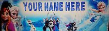 "FREE DISNEY FROZEN ELSA PERSONALIZED CUSTOM NAME PAINTING 8.5""X30"" POSTER BANNER"