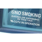 2 Taxi/Minicab Warning Window Stickers-No Smoking,Eating,Drinking-Cab CCTV Sign