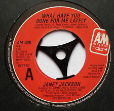 """JANET JACKSON - What Have You Done For Me Lately - Ex Con 7"""" Single A&M AM 308"""
