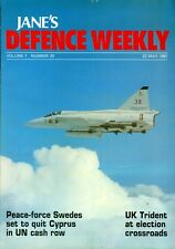 1987 Jane's Defence Weekly Magazine: Peace Force Swedes to Quit Cyprus UN Cash
