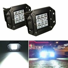 2x Dually 4'' Flush Mount Pods 18W CREE Spot LED Light Ford Jeep 4X4 Offroad ATV