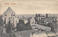 Sweden postcard Wisby, Torget, panorama view