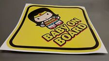WONDER WOMAN Baby Sign BABY ON BOARD WINDOW DECAL SIGN STICKER WARNING VINYL