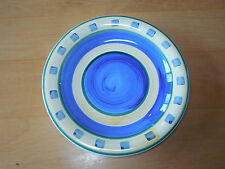 Tabletops Unlimited BARCELONA Yellow Blue Set of 2 Salad Plates 8 in